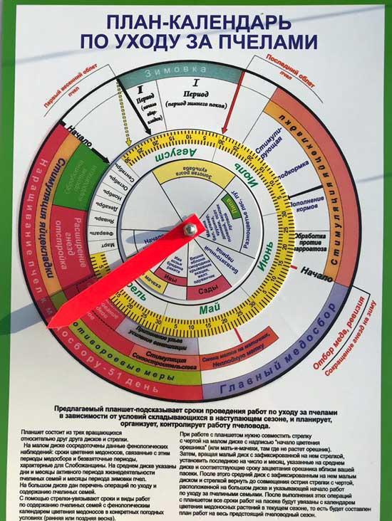 план-календарь пчеловода